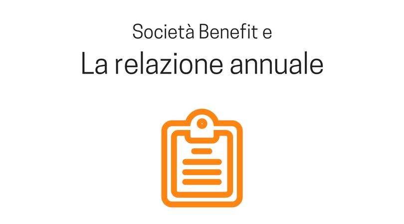 Relazione annuale di una società benefit